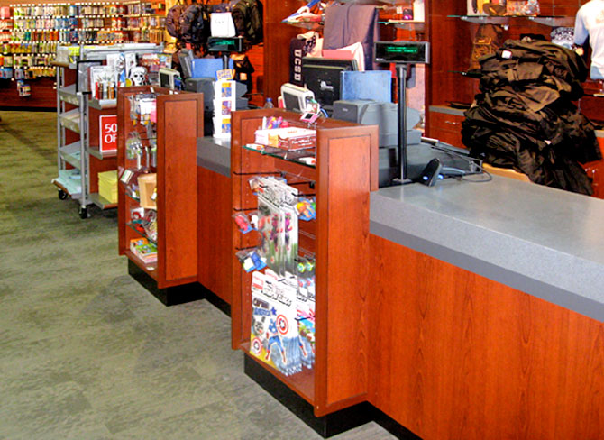 how to build a retail counter