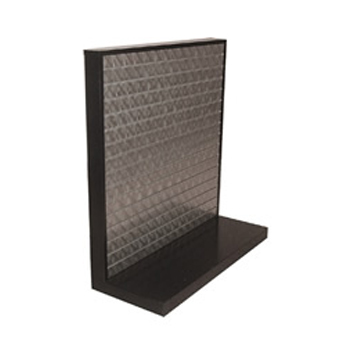 Steel Slatwall L-Shape Display
